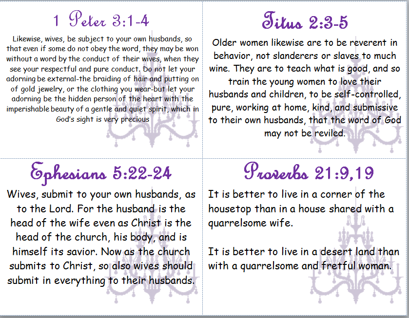 Bible Verses on Biblical Womanhood