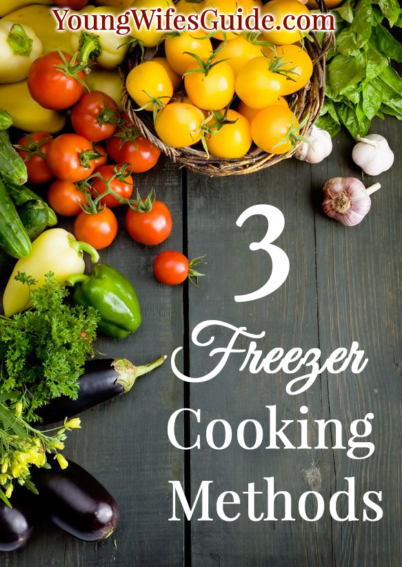 3 freezer cooking methods