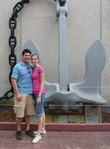 Hubby and I at Pearl Harbor on our Honeymoon
