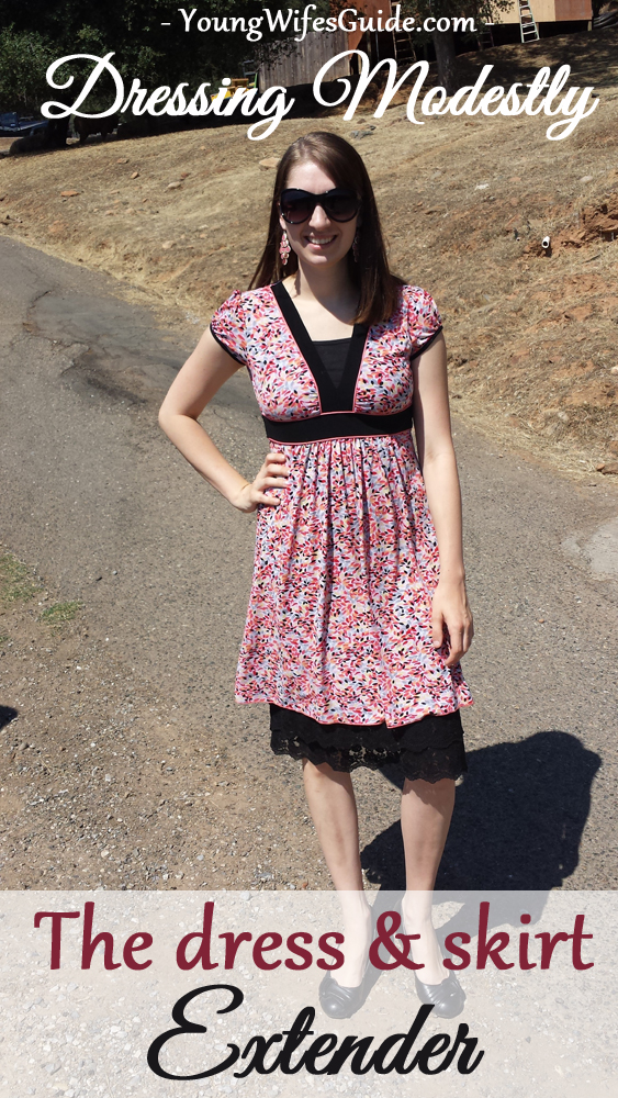 Dressing Modestly - The Dress and Skirt Extender