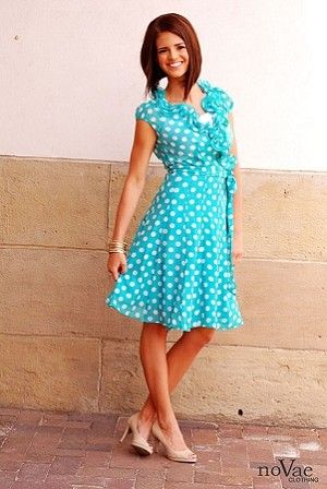 Cutest polka dot modest dress!