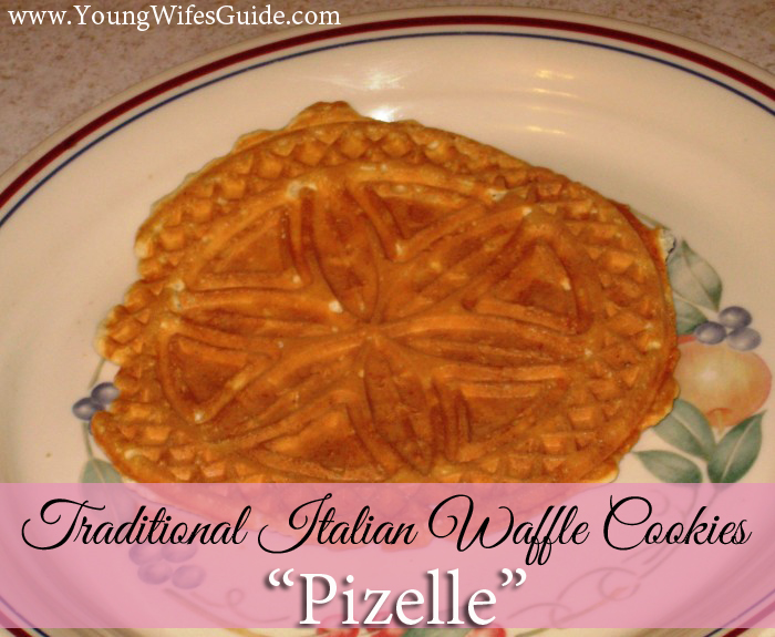 Learn how to make traditional Italian waffle cookies: Pizelle Recipe and Tutorial