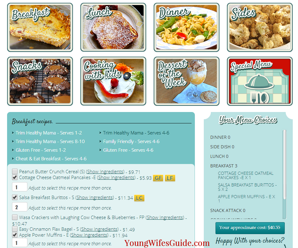 Designing a meal plan in 20 minutes or less!