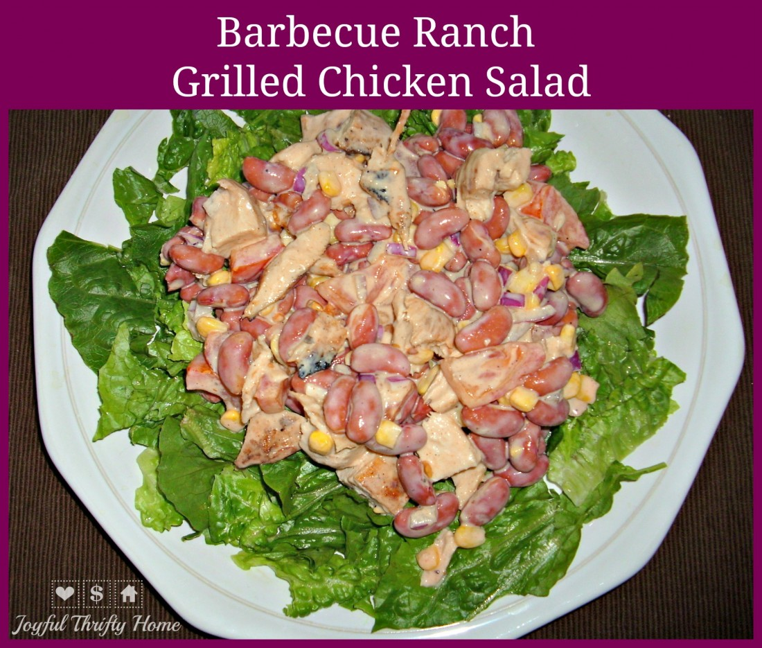 Barbecue Ranch Grilled Chicken Salad