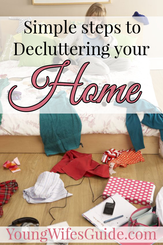 A big lesson I've had to learn when it comes to household management, is to keep things simple.  Here are some simple ways you can begin decluttering your home!