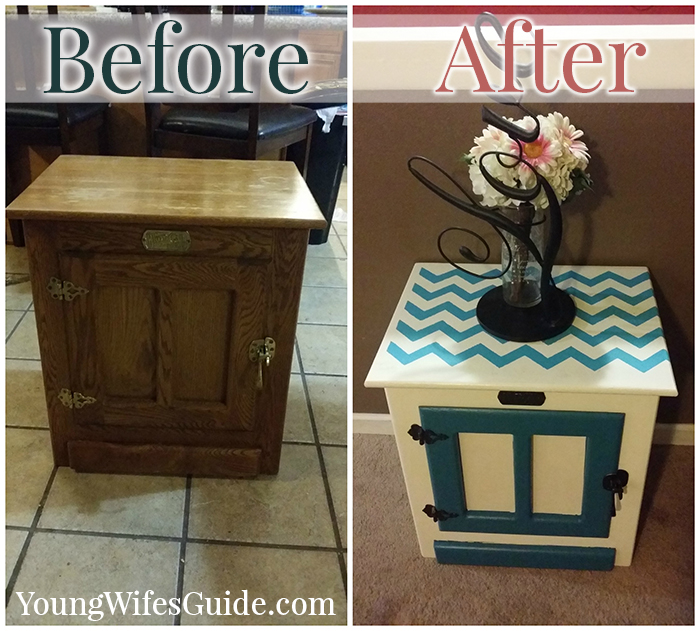 Before and After - Using Stencils is my newest favorite DIY thing!!