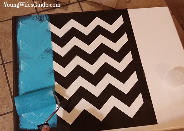 Step by Step Tutorial for Stenciling Like a Pro - Step 2 is where the fun begins!