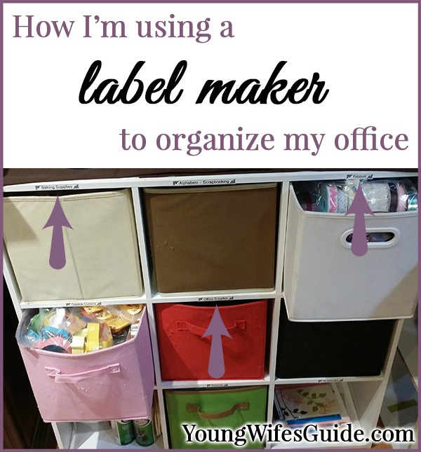 How I'm using a label maker to organize my office