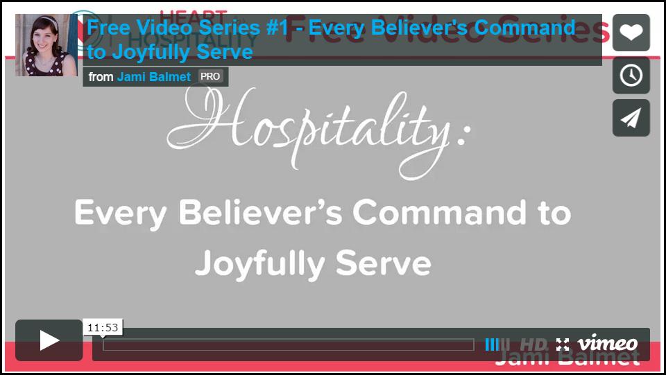 Screenshot of hospitality video one