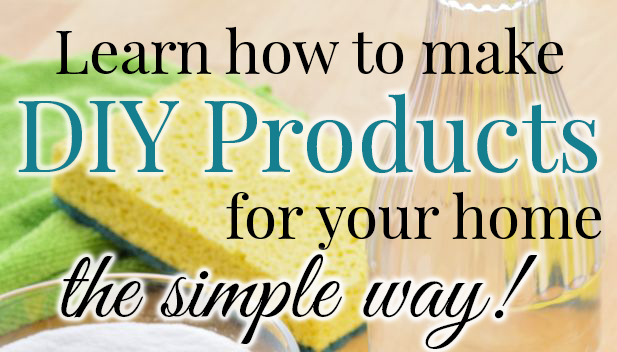 Learn how to make DIY products for your home - the simple way! FB