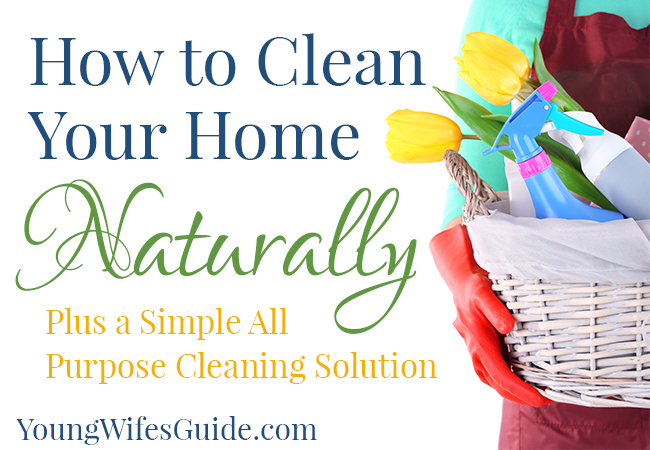 How to Clean Your Home Naturally (Plus a Simple All Purpose Cleaning Solution) 2 - Young Wifes Guide
