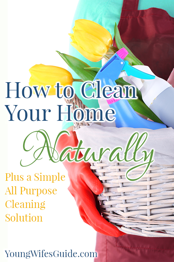 How to Clean Your Home Naturally (Plus a Simple All Purpose Cleaning Solution) - Young Wifes Guide