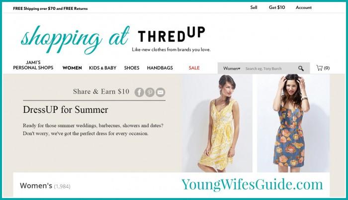 Shopping at ThredUp