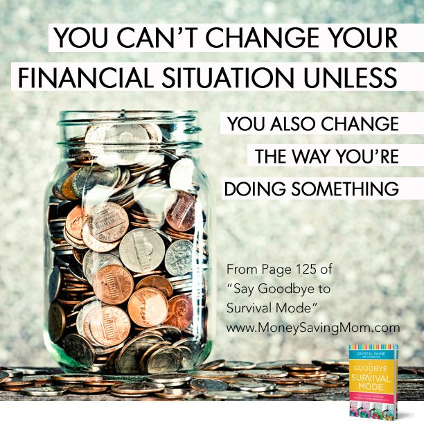 You can't change your financial situation