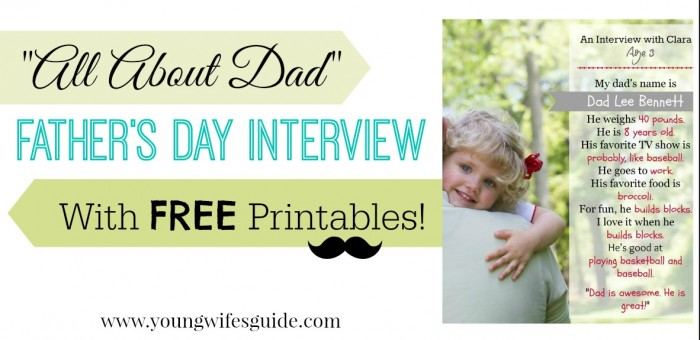 father's day interview with free printables FB2