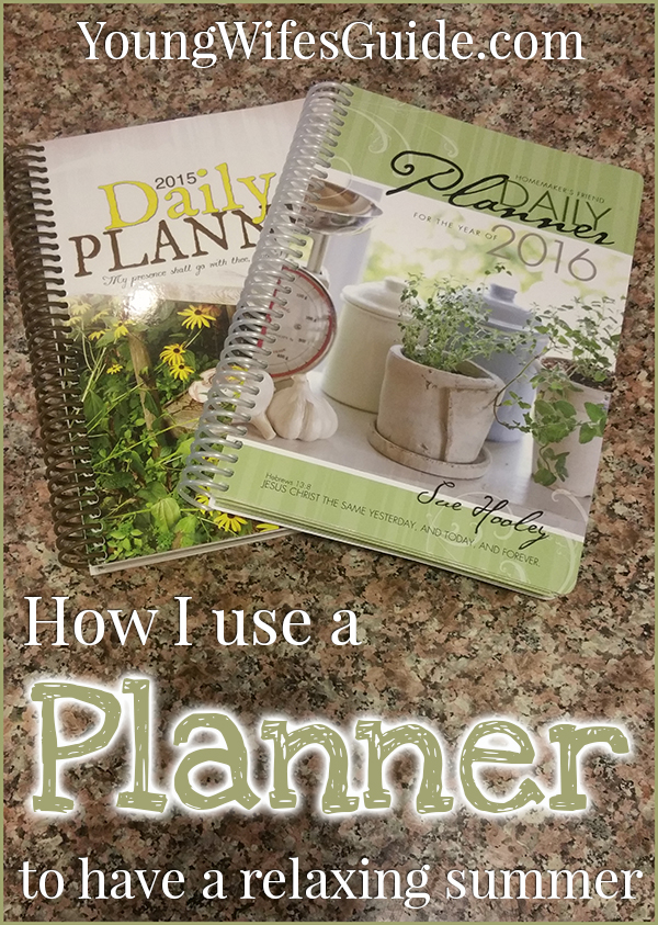 How I use a planner to have a relaxing summer