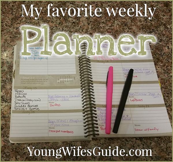 My favorite weekly planner