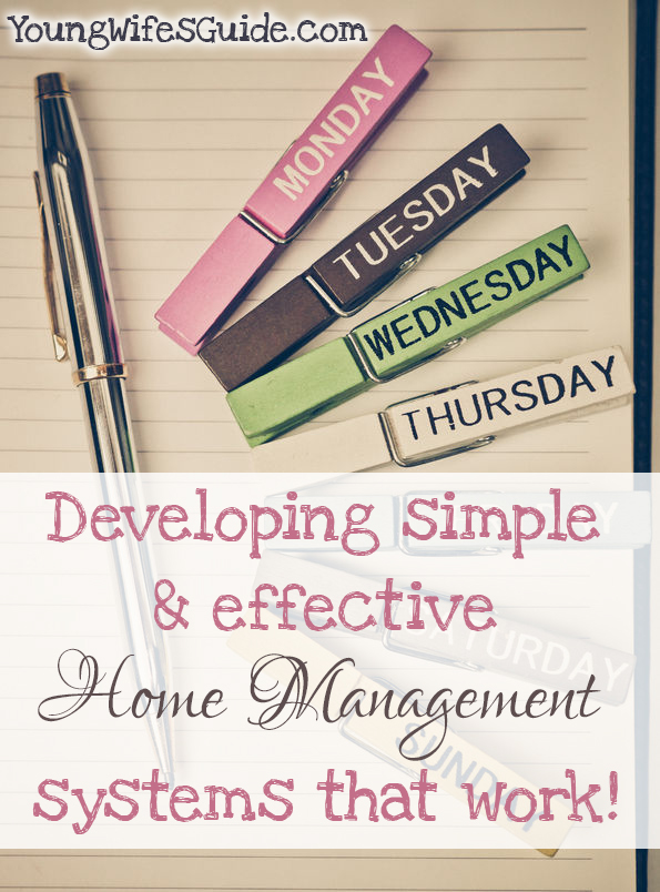 developing simple and effective home  management systems that work