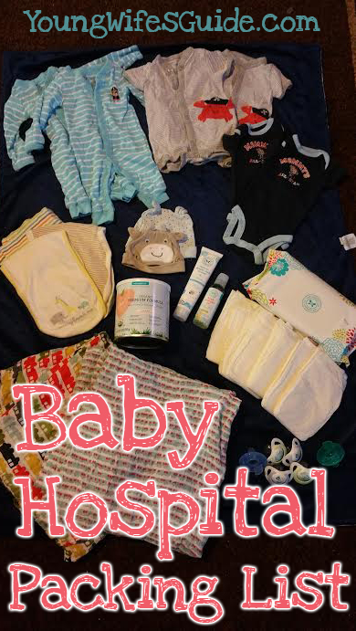 Baby hospital packing list - what we brought to the hospital and more