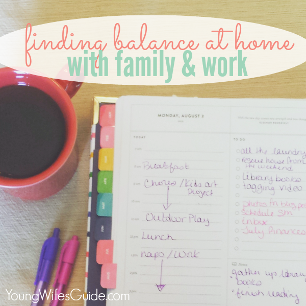 Finding Balance at Home with Family and Work 600x599