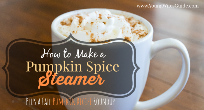 how to make a pumpkin spice steamer facebook