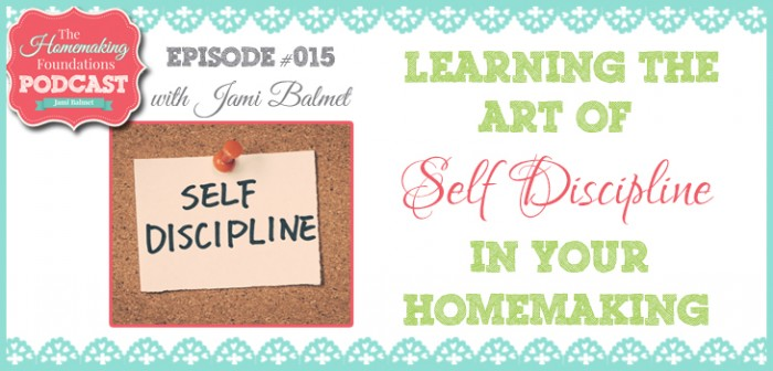 HF #15 - Learning the Art of Self-Disciplines as a Homemaker