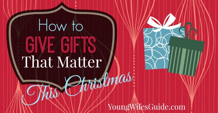 how to give gifts that matter this christmas facebook