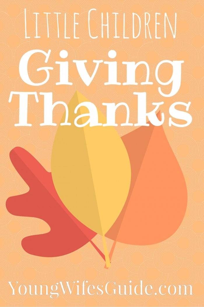 Little Children Giving Thanks