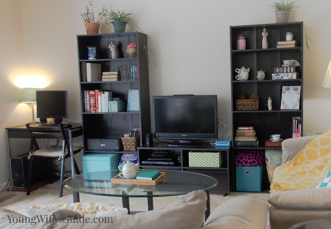 2 Lessons I Have Learned on Cleaning and Organizing (Bookshelf view) - Young Wifes Guide
