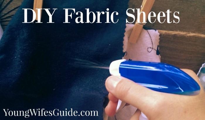 DIY Fabric Sheets