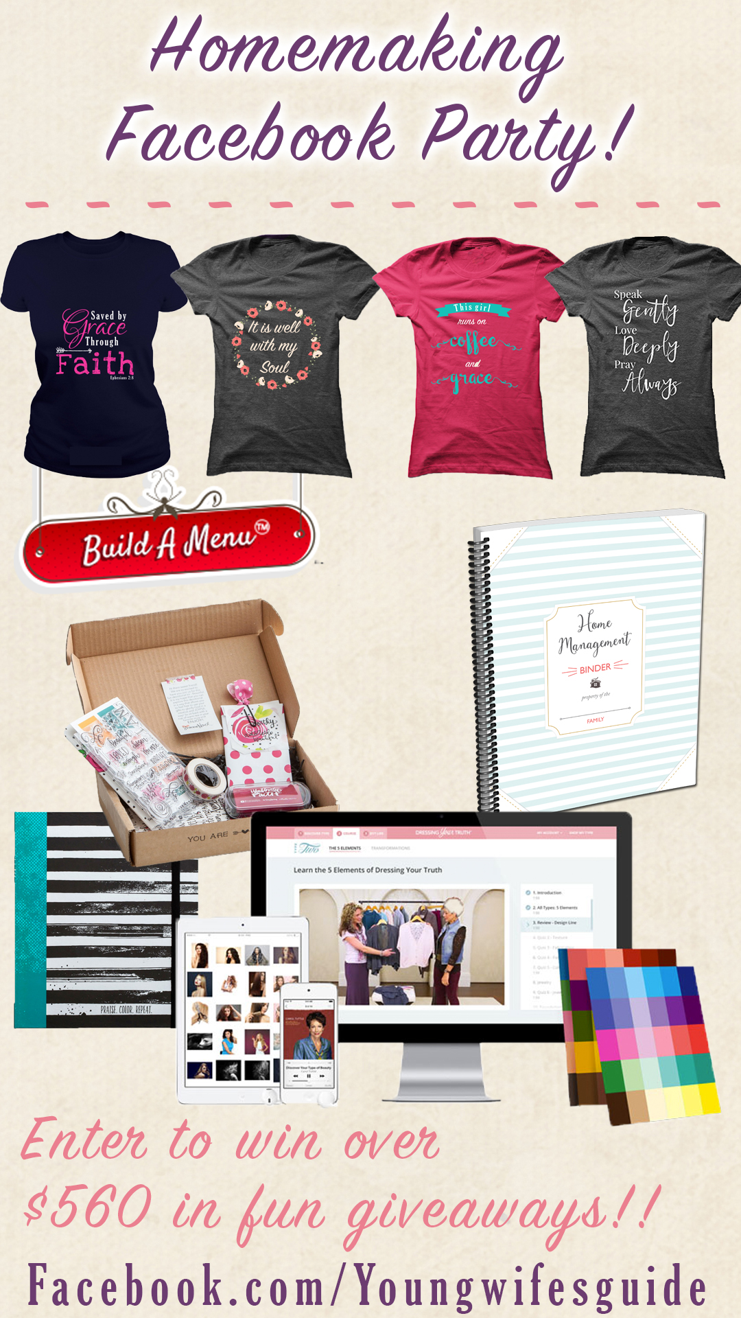 Homemaking Facebook Party Giveaways
