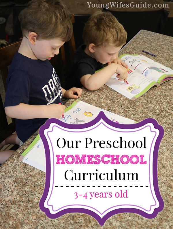 Our preschool homeschool curriculum