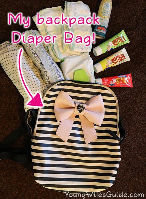 My backpack diaper bag makes things so easy!