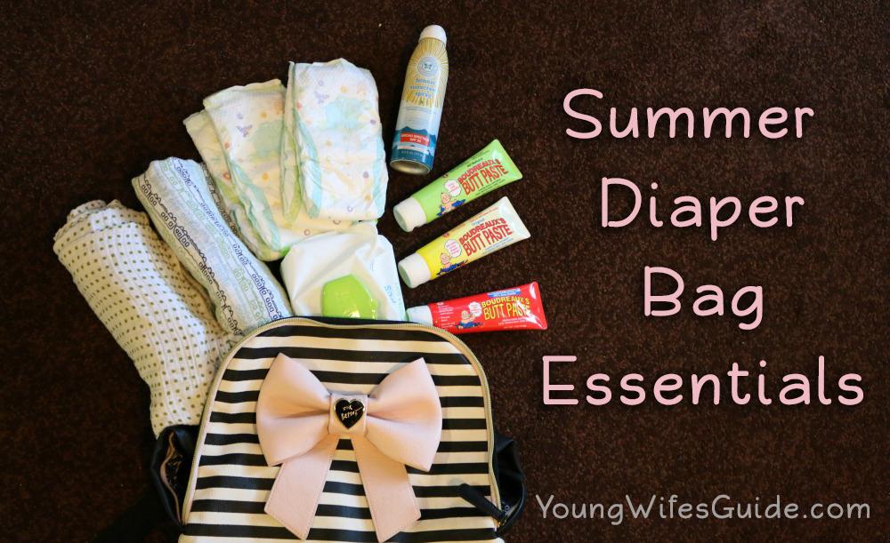 My summer diaper bag essentials