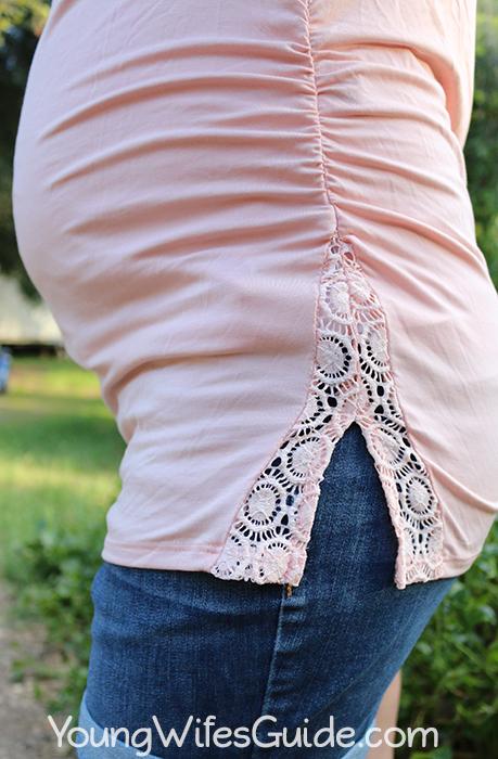 Pink Lace Shirt lace detail copy