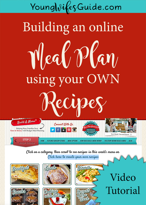 I've been using an amazing online system to do all my meal planning. It lets you pull from their bank or recipes OR upload your own!! How awesome is that? And the best part? It only takes a few minutes :D