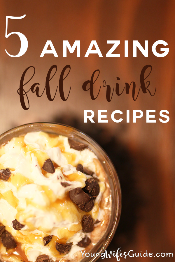 Download recipe cards for 5 amazing FALL drink recipes!