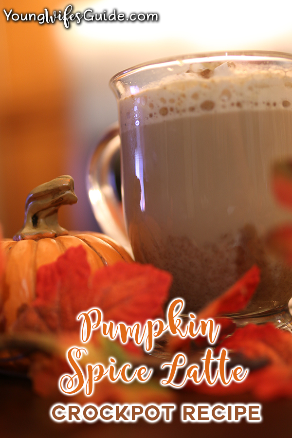 Make this amazing pumpkin spice latte recipe in the crockpot in just a few minutes!