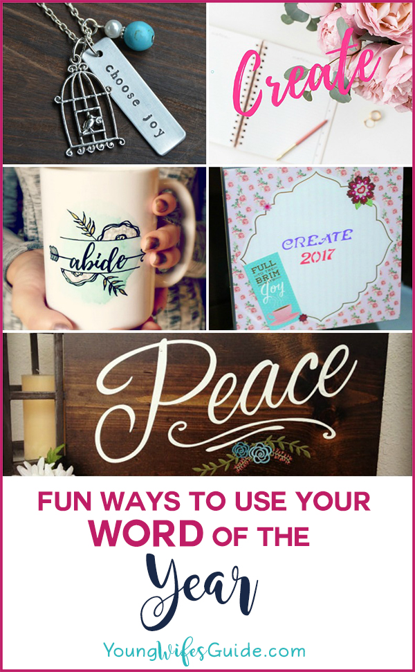 Fun ideas for using your word of the year